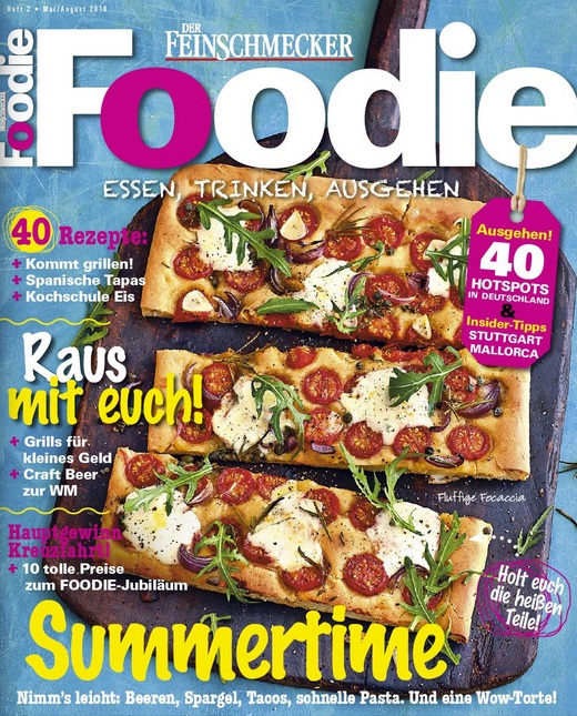 "Magazin ""Foodie"" (Der Feinschmecker), Mai – August 2018"