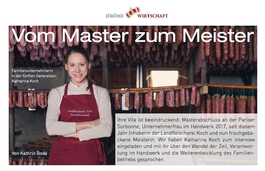 Vom Master zum Meister (Jérôme, August 2018)