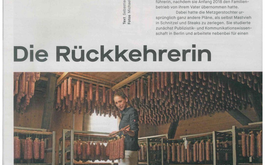 Die Rückkehrerin (orange, Handelsblatt, Ausgabe 2018/2019)