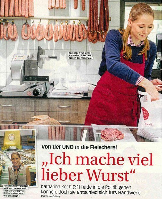 """""""Ich mache viel lieber Wurst"""" – TINA berichtet über unsere Landfleischerei"""