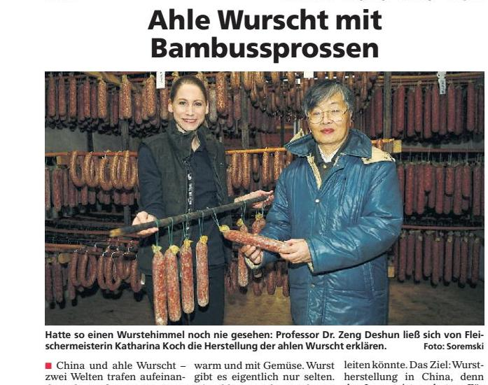 Ahle Wurscht mit Bambussprossen (Extra Tip, 19. Januar 2019)