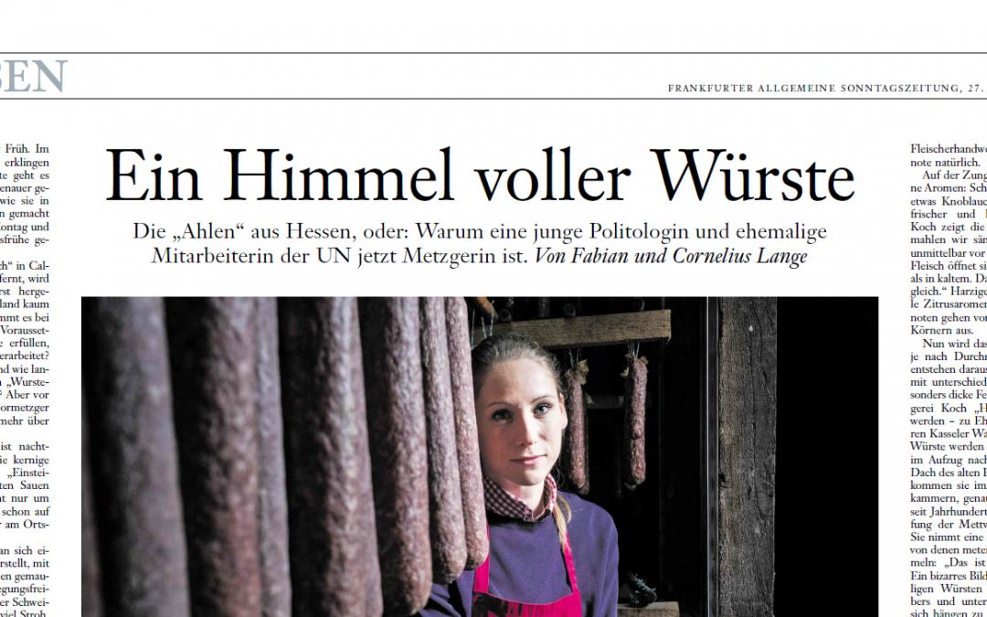 Ein Himmel voller Würste (Frankfurter Allgemeine Sonntagszeitung, 27. Januar 2019)