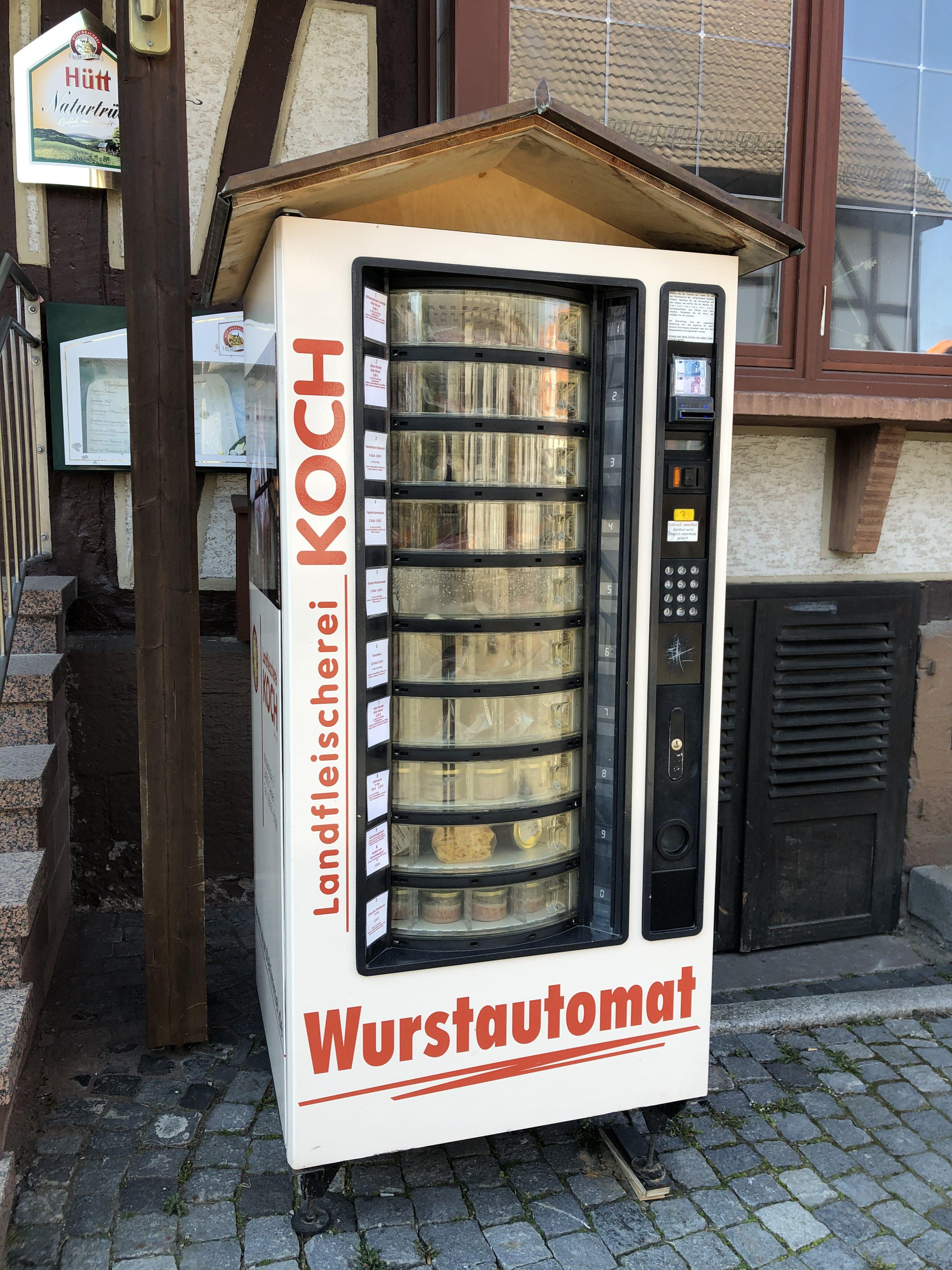 Unser neuer Wurstautomat