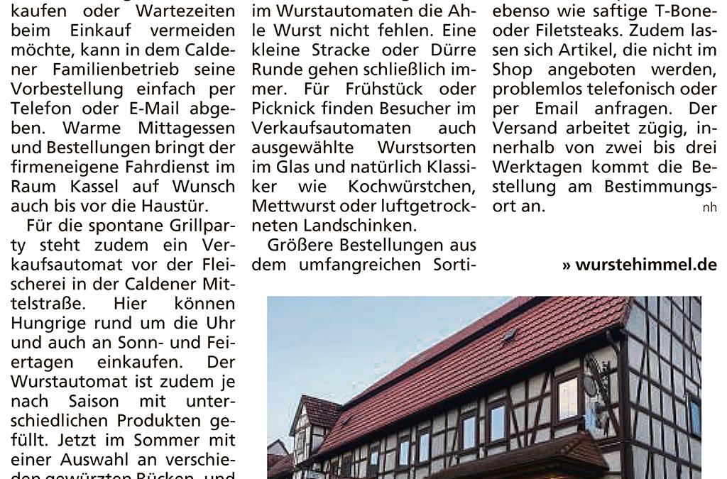 Grillsteaks und Ahle Wurst rund um die Uhr einkaufen (HNA Vor Ort, 11.06.2020)