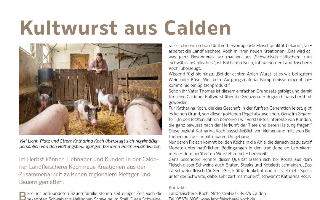 Kultwurst aus Calden (StadtZeit Kassel Magazin, Nr. 100, Oktober/November 2020)