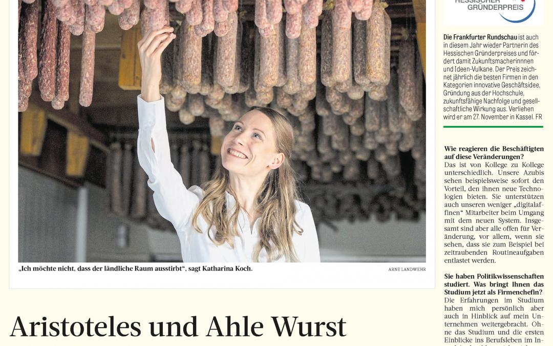 Aristoteles und Ahle Wurst (Frankfurter Rundschau, 13. November 2020)